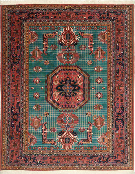 Ardebil Rug 196X248 Authentic  Oriental Handknotted Brown/Dark Red (Wool, Persia/Iran)