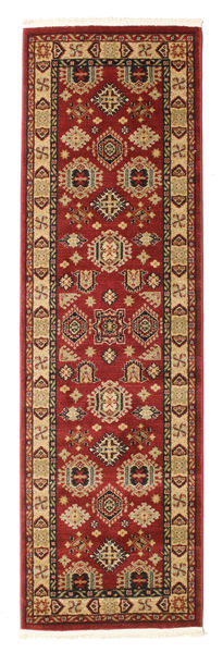 Shirvan Kazak Rug 80X250 Oriental Hallway Runner  Dark Red/Light Brown ( Turkey)