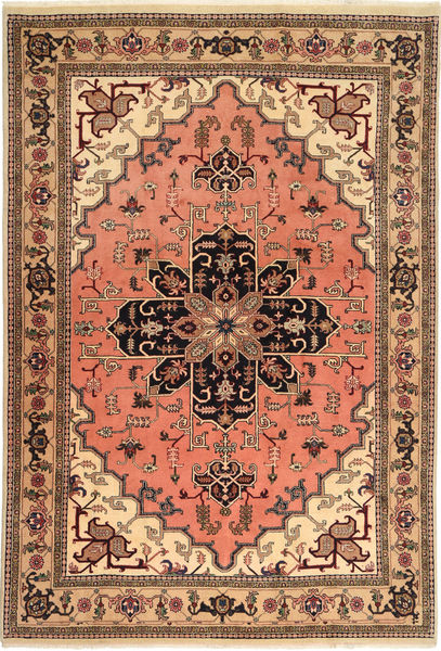 Ardebil Matto 196X285 Itämainen Käsinsolmittu Vaaleanruskea/Vaaleanpunainen (Villa, Persia/Iran)