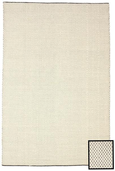 Bobbie - Valkoinen/Musta Matto 200X300 Moderni Käsinkudottu Beige/Tummanbeige (Villa, Intia)