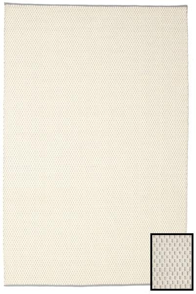 Bobbie - White_Grey Teppich  200X300 Echter Moderner Handgewebter Beige/Dunkel Beige (Wolle, Indien)