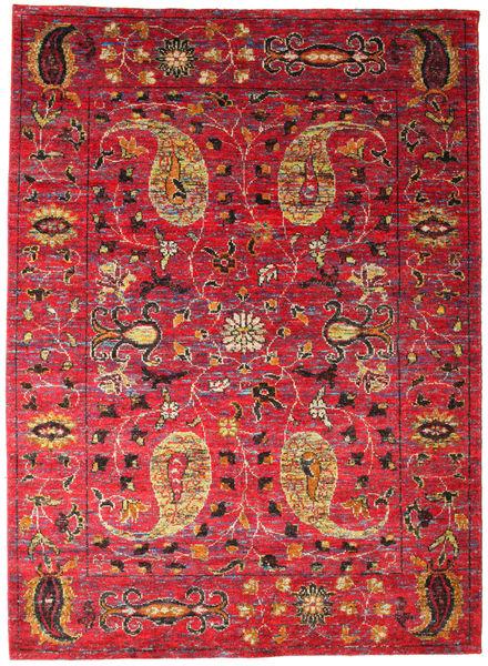 Vega Sari Zijde Tapijt 240X340 Echt Modern Handgeknoopt Rood/Donkerrood (Zijde, India)