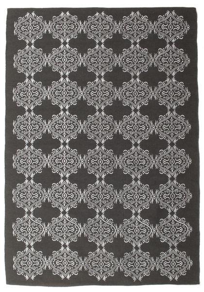 Zakai - Sötétszürke Szőnyeg 160X230 Modern Kézi Szövésű Sötétszürke/Világosszürke (Gyapjú, India)
