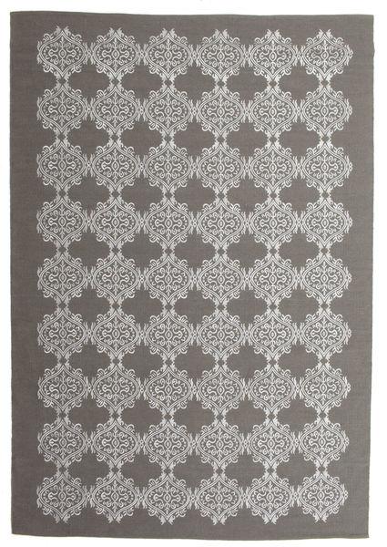 Zakai Teppich  200X300 Echter Moderner Handgewebter Dunkelgrau/Hellgrau (Wolle, Indien)