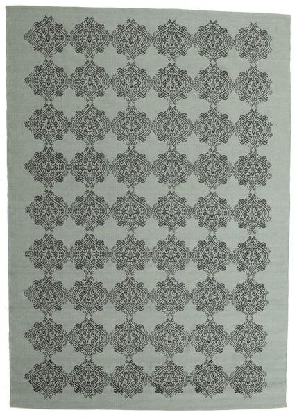 Zakai Χαλι 200X300 Σύγχρονα Χειροποίητη Ύφανση Σκούρο Γκρι/Σκούρο Μπλε (Μαλλί, Ινδικά)