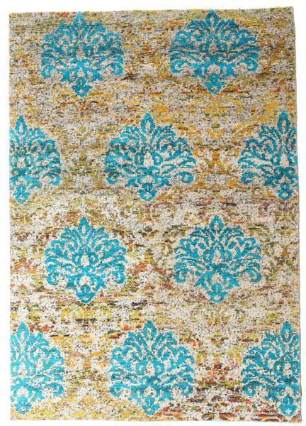 Kandula Matta 160X230 Äkta Modern Handknuten Ljusbrun/Mörkbeige (Silke, Indien)