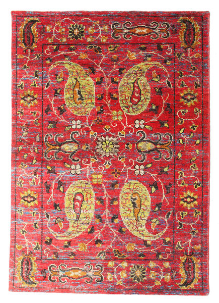 Vega Sari Silkki Matto 160X230 Moderni Käsinsolmittu Ruoste/Tummanpunainen (Silkki, Intia)