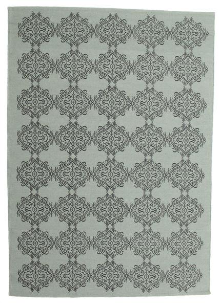Zakai Tæppe 160X230 Ægte Moderne Håndvævet Mørkegrå/Lysegrå (Uld, Indien)