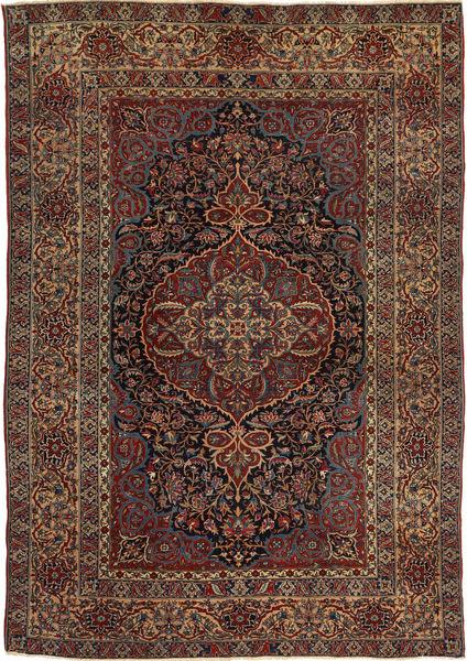 Isfahan Antikke Teppe 147X215 Ekte Orientalsk Håndknyttet Mørk Brun/Lysbrun (Ull, Persia/Iran)