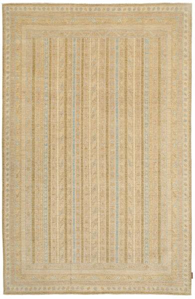 Ziegler Rug 196X304 Authentic  Oriental Handknotted Light Brown/Dark Beige (Wool, Pakistan)