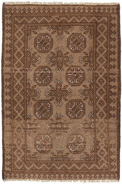 Afghan Matto 73X113 Itämainen Käsinsolmittu Ruskea/Tummanruskea (Villa, Afganistan)