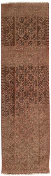 Afgan Dywan 78X282 Orientalny Tkany Ręcznie Chodnik Brązowy/Ciemnobrązowy (Wełna, Afganistan)