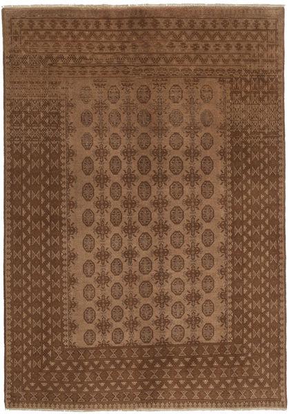 Afghan Rug 189X270 Authentic  Oriental Handknotted Brown/Dark Brown (Wool, Afghanistan)