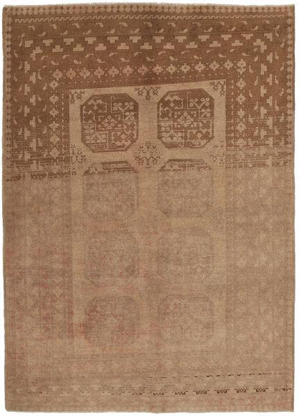 Afghan Matto 154X236 Itämainen Käsinsolmittu Vaaleanruskea/Ruskea (Villa, Afganistan)