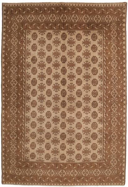 Afghan Rug 191X286 Authentic  Oriental Handknotted Brown/Light Brown (Wool, Afghanistan)