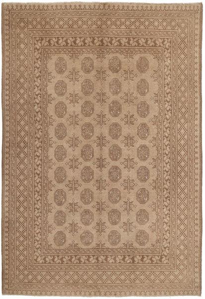 Afghan Matto 147X229 Itämainen Käsinsolmittu Ruskea/Vaaleanruskea (Villa, Afganistan)