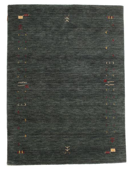 Gabbeh Loom Frame - Gris Oscuro/Verde Alfombra 140X200 Moderna Verde Oscuro (Lana, India)