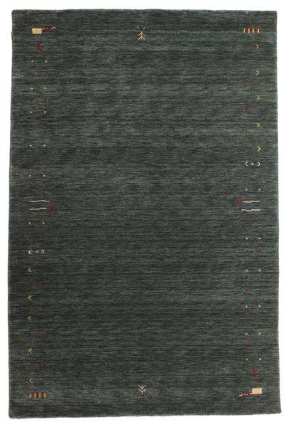 Gabbeh Loom Frame - Tummanharmaa/Vihreä Matto 190X290 Moderni Tummanvihreä (Villa, Intia)
