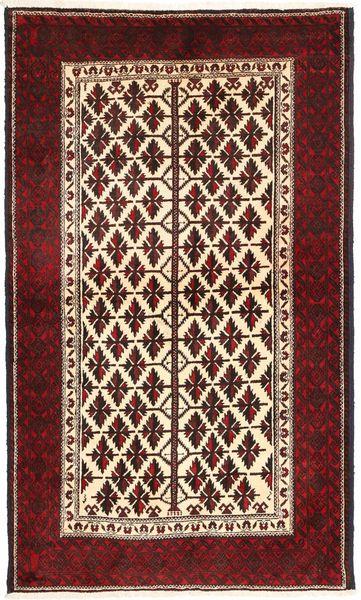Beluch Teppe 110X190 Ekte Orientalsk Håndknyttet Mørk Rød/Beige (Ull, Persia/Iran)