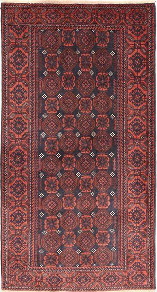 Beluch Matto 105X196 Itämainen Käsinsolmittu Tummanpunainen/Ruskea (Villa, Persia/Iran)