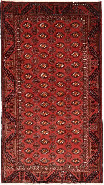 Beludż Dywan 100X187 Orientalny Tkany Ręcznie Ciemnoczerwony/Ciemnobrązowy (Wełna, Persja/Iran)