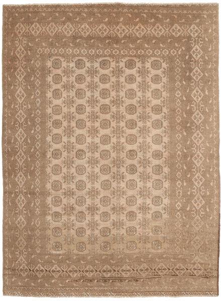 Afghan Rug 196X274 Authentic  Oriental Handknotted Light Brown/Brown (Wool, Afghanistan)
