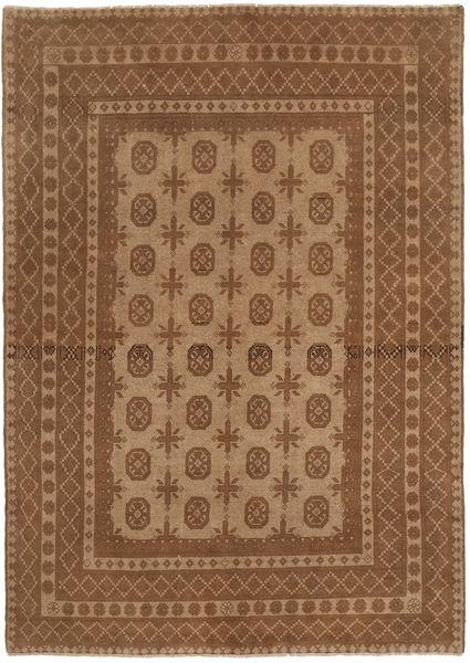 Afgan Dywan 158X238 Orientalny Tkany Ręcznie Brązowy (Wełna, Afganistan)