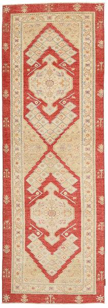 Ziegler Rug 86X278 Authentic  Oriental Handknotted Hallway Runner  Dark Beige/Light Brown (Wool, Pakistan)