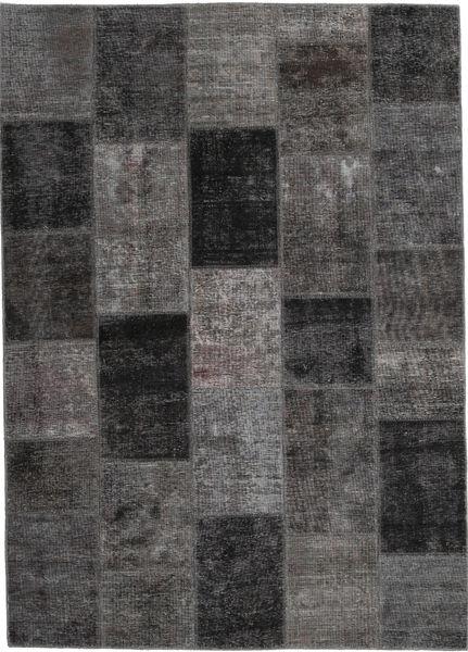Patchwork Alfombra 164X234 Moderna Hecha A Mano Gris Oscuro (Lana, Persia/Irán)