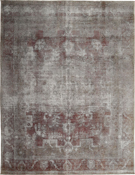 Colored Vintage Rug 284X379 Authentic  Modern Handknotted Light Grey/Dark Grey Large (Wool, Persia/Iran)