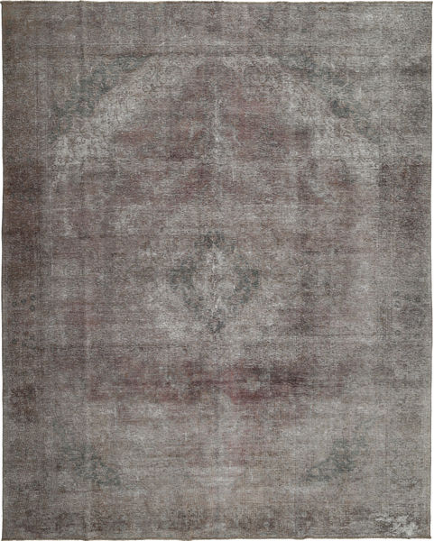 Colored Vintage Rug 280X357 Authentic  Modern Handknotted Dark Grey/Light Grey Large (Wool, Persia/Iran)