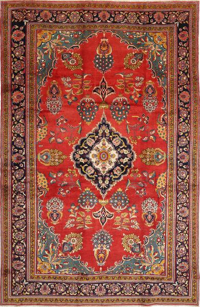 Golpayegan Matta 243X375 Äkta Orientalisk Handknuten Mörkbrun/Roströd (Ull, Persien/Iran)