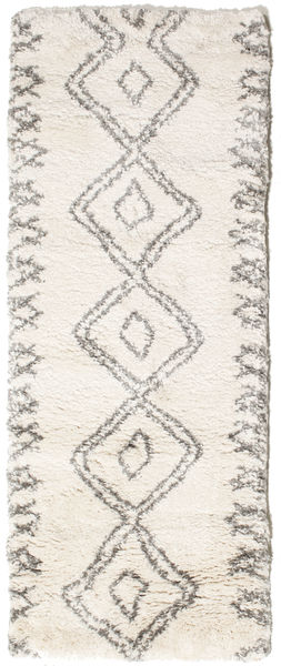 Berber Shaggy Massin Rug 80X200 Modern Hallway Runner  Beige/Light Grey ( Turkey)