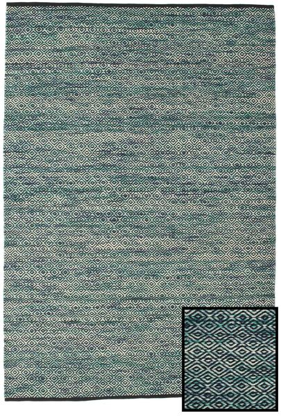 Hugo - Petrol Rug 160X230 Authentic  Modern Handwoven Light Grey/Blue ( India)