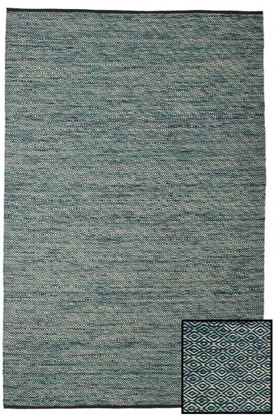 Hugo - Petrol Rug 200X300 Authentic  Modern Handwoven Light Grey/Dark Green ( India)