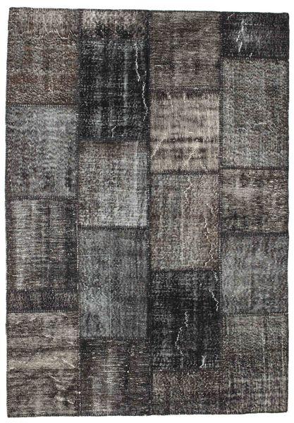 Patchwork Rug 162X233 Authentic  Modern Handknotted Dark Grey/Dark Brown (Wool, Turkey)