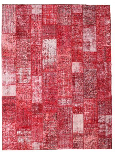 Patchwork Alfombra 303X402 Moderna Hecha A Mano Roja/Óxido/Roja/Rosa Grande (Lana, Turquía)