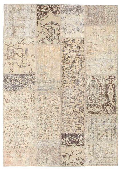パッチワーク 絨毯 143X203 モダン 手織り 薄茶色/ベージュ (ウール, トルコ)
