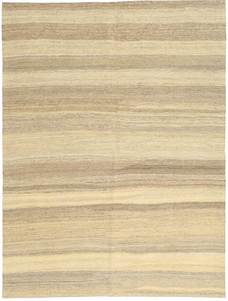 Kelim Moderni Matto 154X204 Moderni Käsinkudottu Vaaleanruskea/Keltainen (Villa, Persia/Iran)