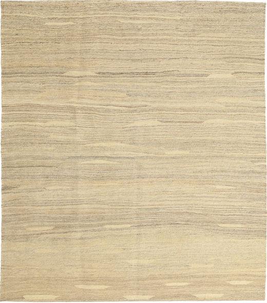 Kelim Moderni Matto 157X183 Moderni Käsinkudottu Vaaleanruskea/Tummanbeige/Keltainen (Villa, Persia/Iran)