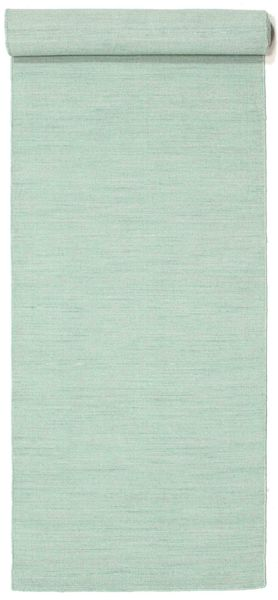 Kilim Loom - Mint Green Rug 80X400 Authentic  Modern Handwoven Hallway Runner  Light Grey/Pastel Green (Wool, India)