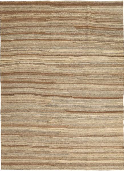 Kilim Modern Rug 167X236 Authentic  Modern Handwoven Light Brown (Wool, Persia/Iran)