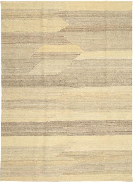 Kilim Nowoczesne Dywan 173X241 Nowoczesny Tkany Ręcznie Beżowy/Ciemnobeżowy (Wełna, Persja/Iran)
