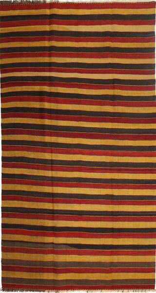 Kilim Modern Rug 195X372 Authentic  Modern Handwoven Dark Red/Light Brown/Dark Brown (Wool, Persia/Iran)