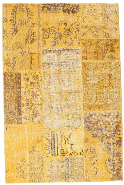 Patchwork Rug 120X183 Authentic  Modern Handknotted Light Brown/Yellow (Wool, Turkey)