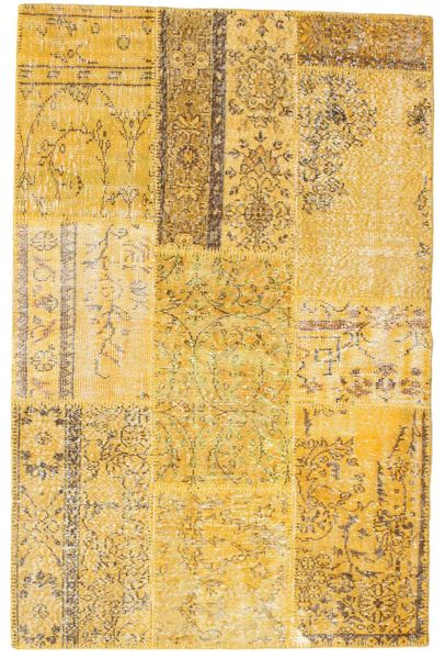 Patchwork Dywan 121X184 Nowoczesny Tkany Ręcznie Jasnobrązowy/Żółty (Wełna, Turcja)