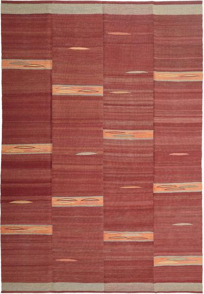 Kelim Moderne Teppe 216X319 Ekte Moderne Håndvevd Brun/Mørk Rød (Ull, Persia/Iran)