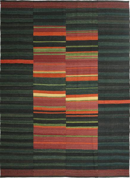 Kelim Moderni Matto 209X297 Moderni Käsinkudottu Tummanvihreä/Tummanharmaa (Villa, Persia/Iran)