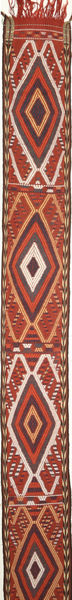 Kilim Moderno Alfombra 38X1494 Moderna Tejida A Mano Marrón/Rojo Oscuro (Lana, Persia/Irán)