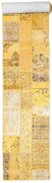 Patchwork Rug 81X600 Authentic  Modern Handknotted Hallway Runner  Yellow/Light Brown/Beige (Wool, Turkey)